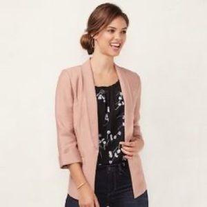 LC Lauren Conrad light pink blazer jacket